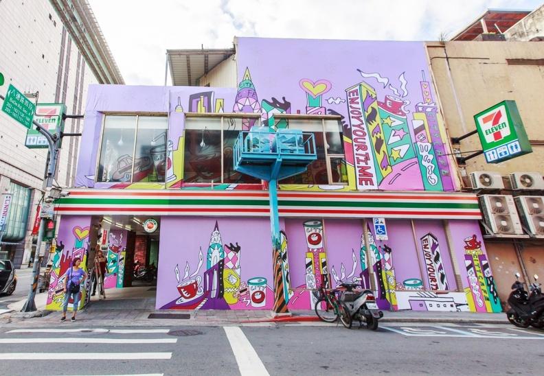 紐約城市X CITY CAFE主題店,以紐約城市街景打造主題店外觀,時尚浪漫。.jpg