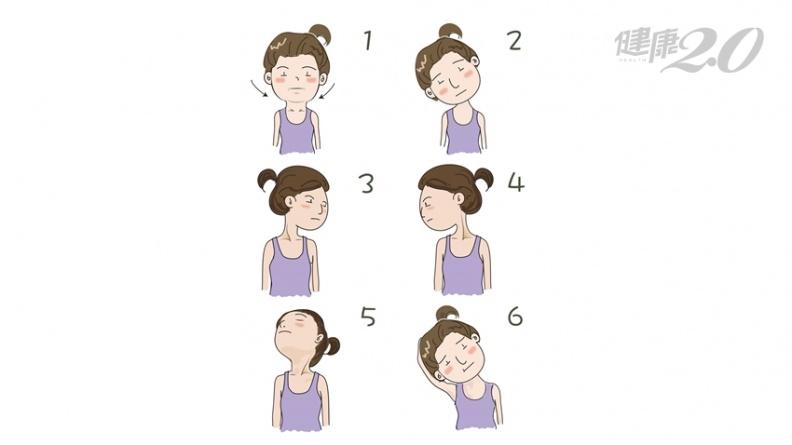頸椎病頭疼痛、頸僵硬 12招圖解舒緩操跟著做!