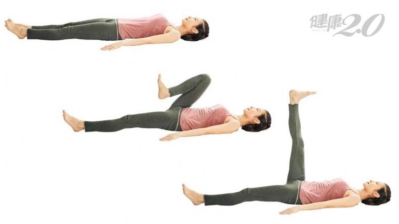 睡前躺著做淋巴伸展操!3分鐘消除腿部痠痛、浮腫