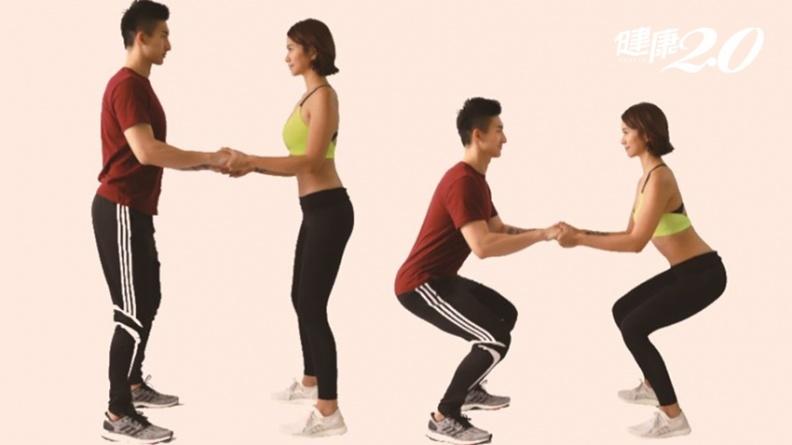 雙人運動瘦掰掰袖又翹臀!爸爸媽媽一起動 感情也升溫