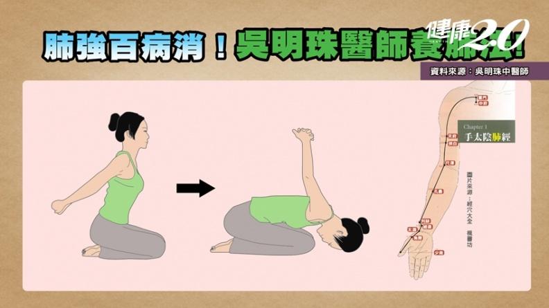 強肺百病消!吳明珠公開「瑜伽穴位養肺法」 3穴位改善氣虛