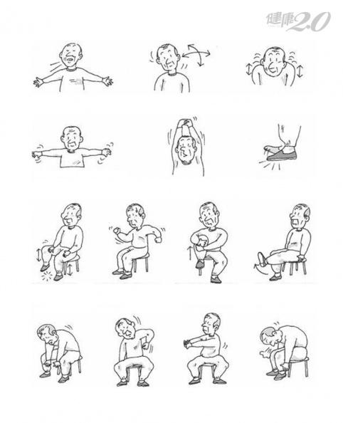 失智症患者也能做!日本「椅子體操」維持身體柔軟、預防功能退化