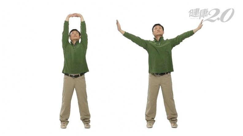 「雙手托天理三焦」活化臟腑!全身筋骨鬆活開來 改善彎腰駝背、肩膀僵硬