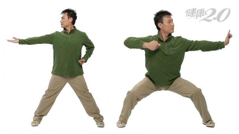 「左右開弓似射鵰」強化肝肺! 舒展胸背通氣血 強心臟又豐胸