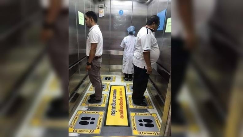 搭電梯感染風險高! 立法院畫九宮格因應 醫師說泰國這個作法更有防疫效果