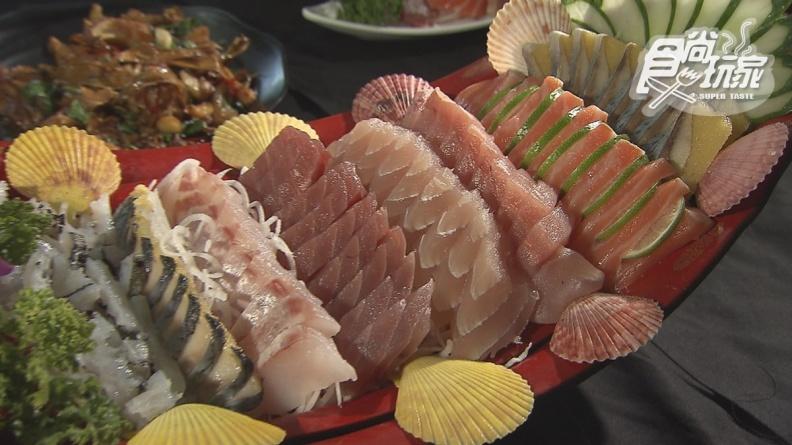 CP值爆表!屏東超浮誇生魚片戰艦只要500元,剝皮魚、河豚皮通通吃得到