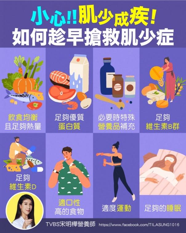 預防「肌少」成疾 宋明樺教8招搶救肌少症,睡覺也能長肌肉!