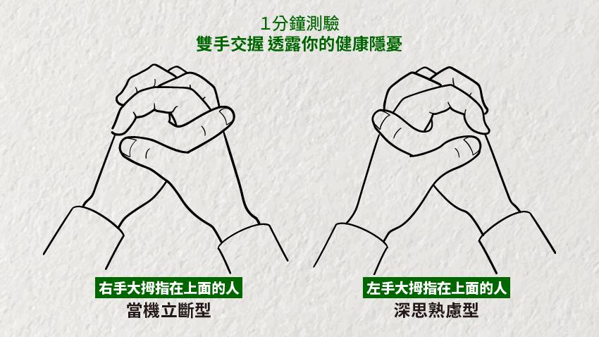 1分鐘測驗:雙手交握,透露你的健康隱憂