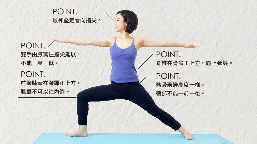 膝蓋瑜伽療法 「英雄式二」強健你的膝關節