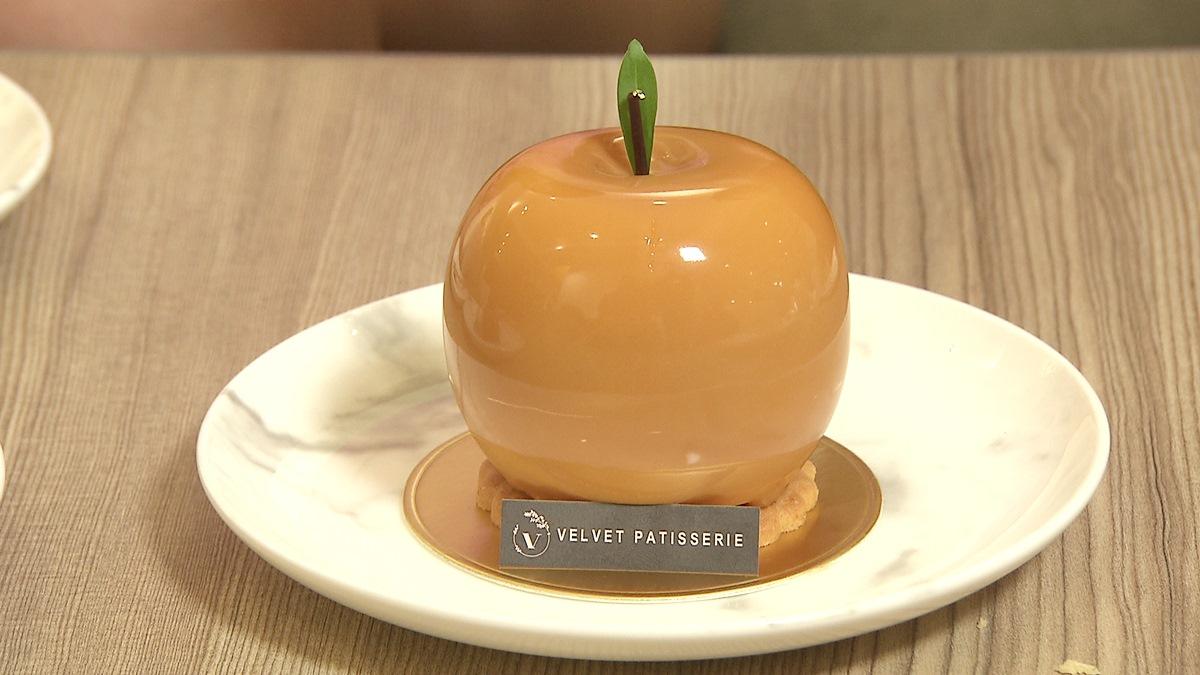 小山園抹茶做的乳酪塔 還有金蘋果蛋糕好可愛   食尚玩家
