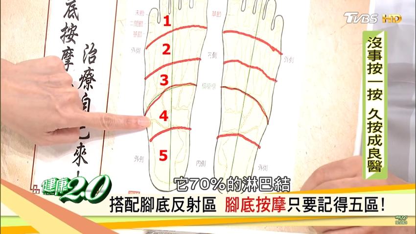 顧腸胃、養全身!腳底按摩不求人,只要記得「五區」