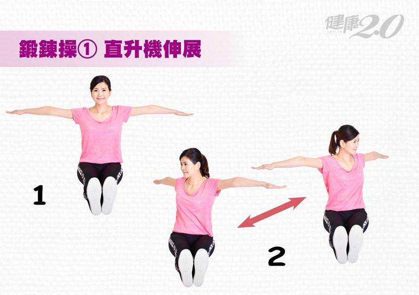 小腹凸、走路外八、膝蓋痛…快做這3招強化腹肌力!