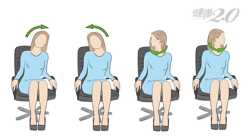 1分鐘做全套「眼睛減壓操」:按穴道、轉轉頭、聳聳肩