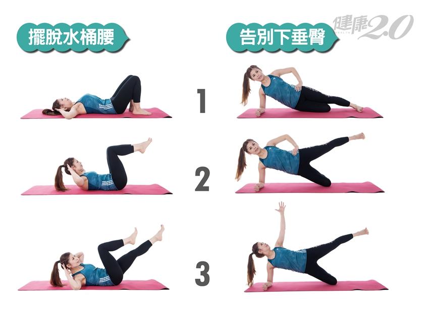 下垂臀、水桶腰…找回緊實身形 2個動作你要知道