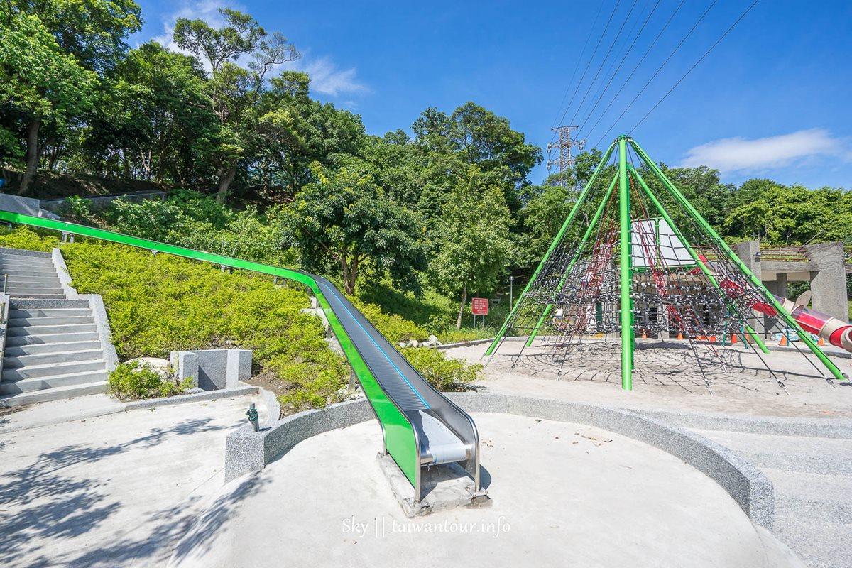全台最長!28公尺「滾輪溜滑梯」、巨型「蜘蛛攀爬網」 中和全新特色公園好狂啊