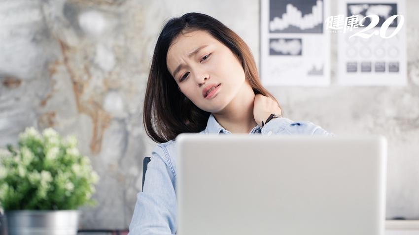 上班族肩頸痠痛,恐是偏頭痛的症狀 神內醫師給出2點建議