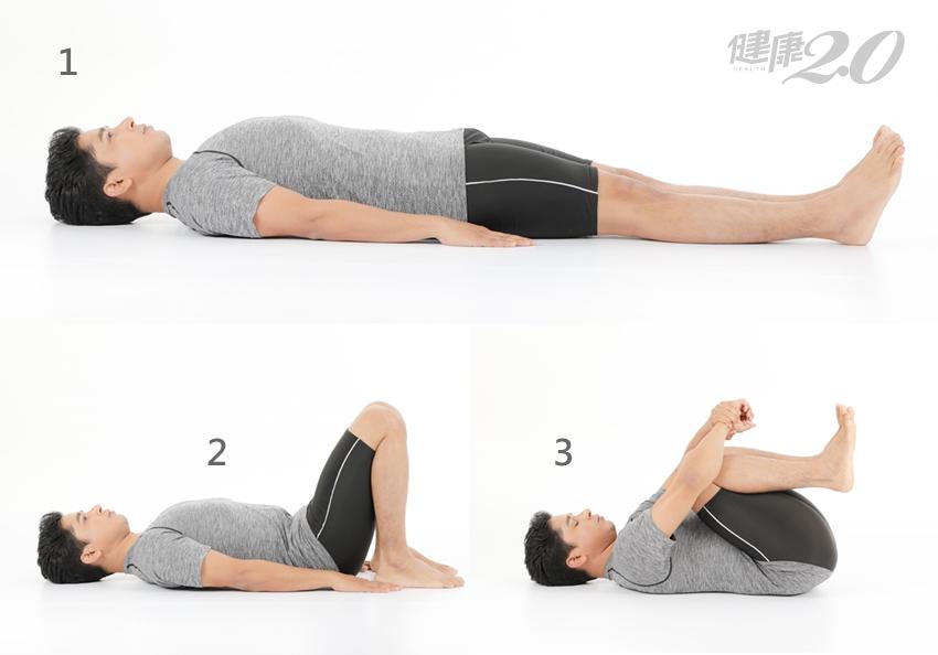 3分鐘解便祕「床上瑜伽」 壓壓腿助排氣、解腹脹