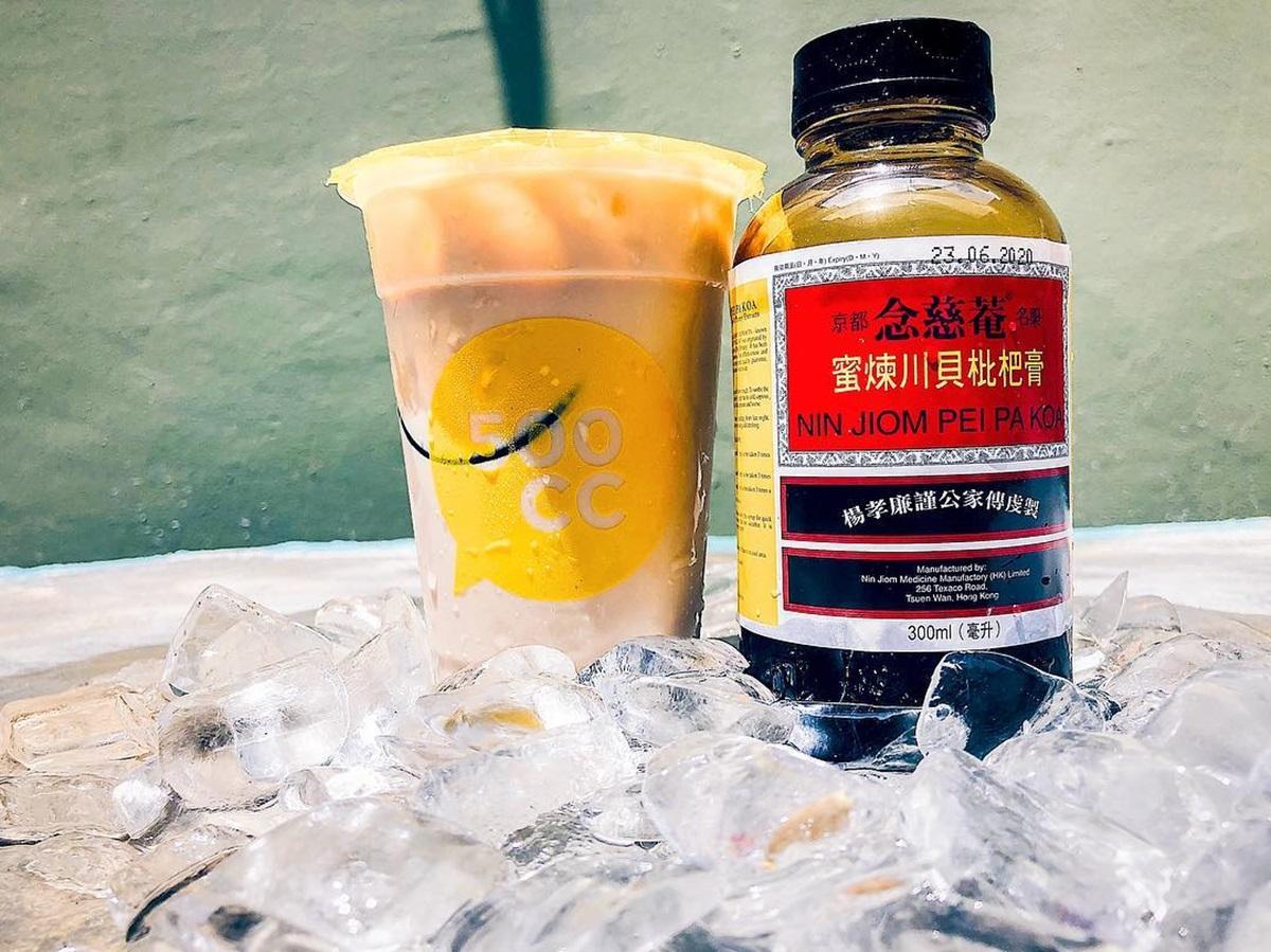 奶茶控崩潰!超獵奇「川貝枇杷膏+珍奶」喝過嗎?