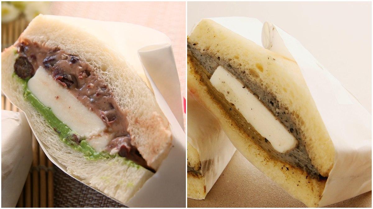台中 橫山銘制水果三明治 宇治金時抹茶紅豆 芝麻焙茶奶酪