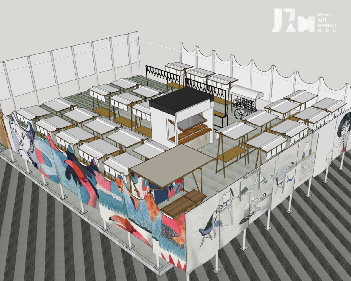 全台最貴創意市集「綠美丘」在台中!網美攤位+裝置藝術只有3個月