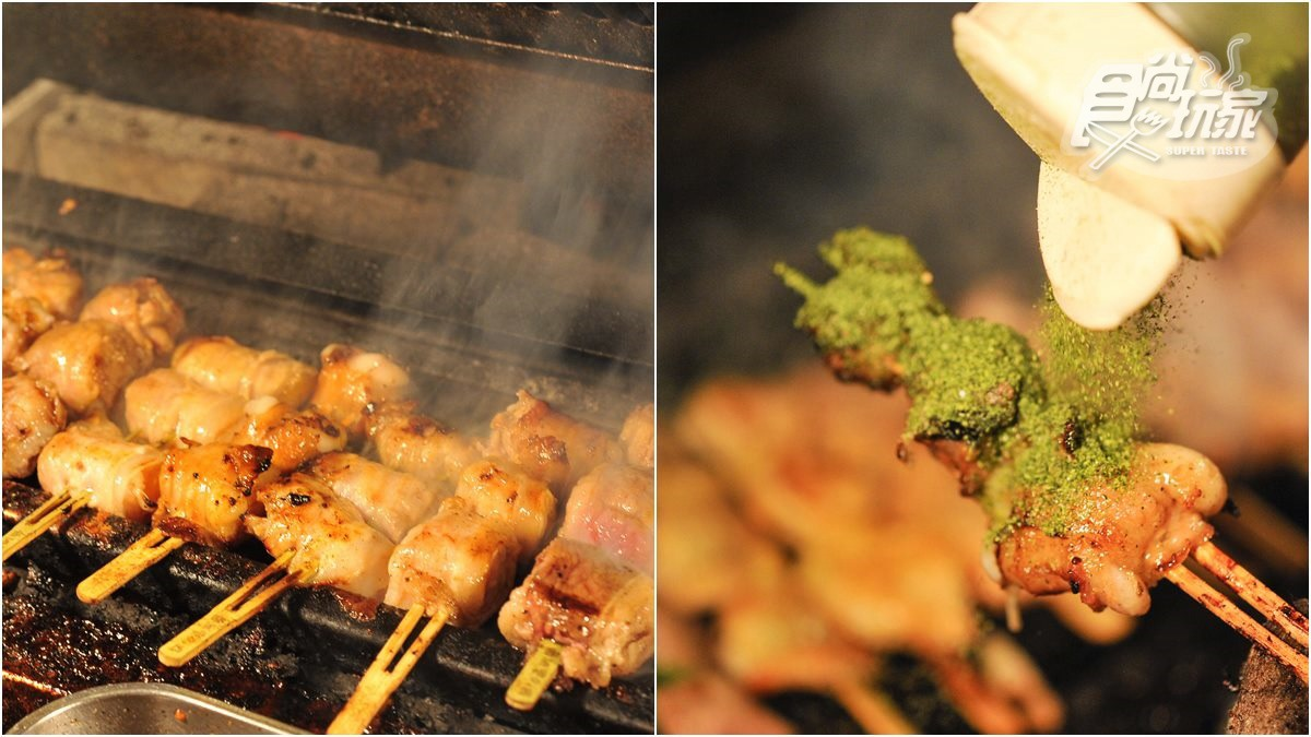 台中高CP值串燒,招牌必點「豬肉包麻糬」,還有雞湯免費無限喝