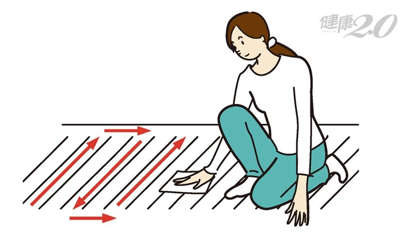 擦擦地板拯救下垂臀!日達人教你「邊做家事邊瘦身」