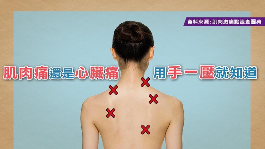 肩背痛是「肌肉緊繃」還是「轉移痛」?一壓就知道!