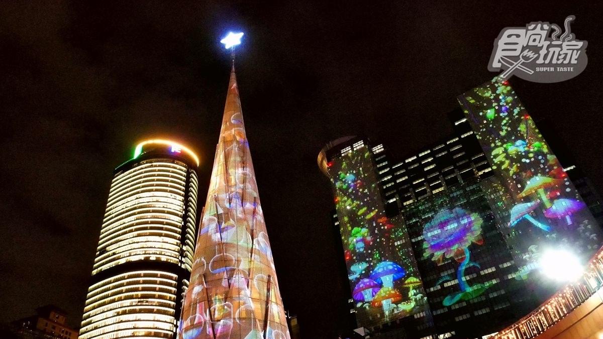 新北耶誕亮燈搶先看!竹筍變身耶誕樹,12組雷射光投影超繽紛