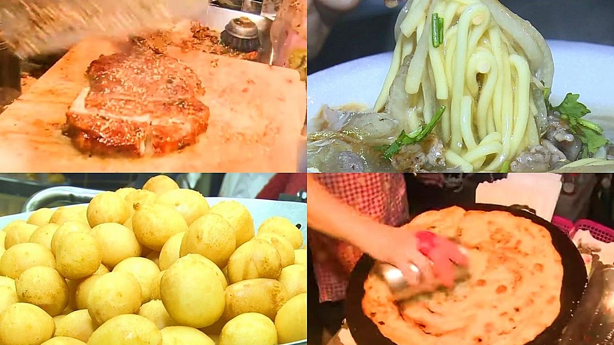 想吃請排隊!精誠夜市4攤口碑小吃:大火炒鴨肉羹、2層鍋炸地瓜球、炭烤沾醬雞排