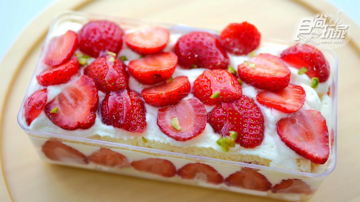 爆量草莓蛋糕,每一口都吃得到果香!超過20顆大湖草莓+超軟綿乳酪蛋糕