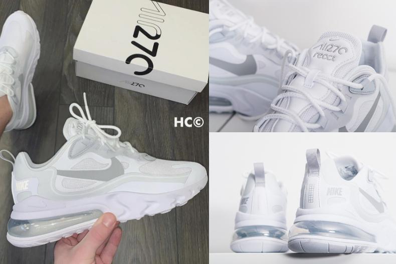 白鞋!Nike Air Max270 React