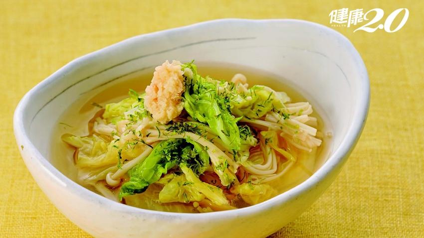 「1碗抗癌湯」消炎、抗氧化、強免疫!利用大白菜、菇類快速搞定