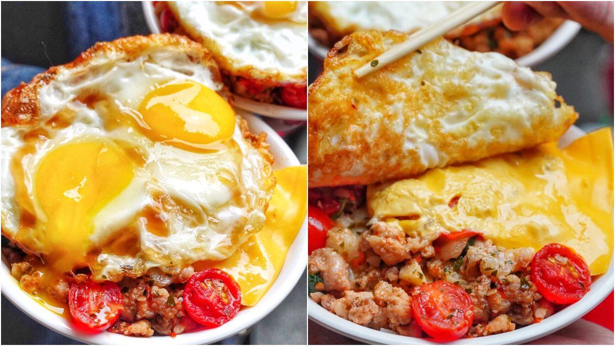 半熟雙蛋加起司!台南浮誇小吃「波霸滷肉飯」根本是個小便當