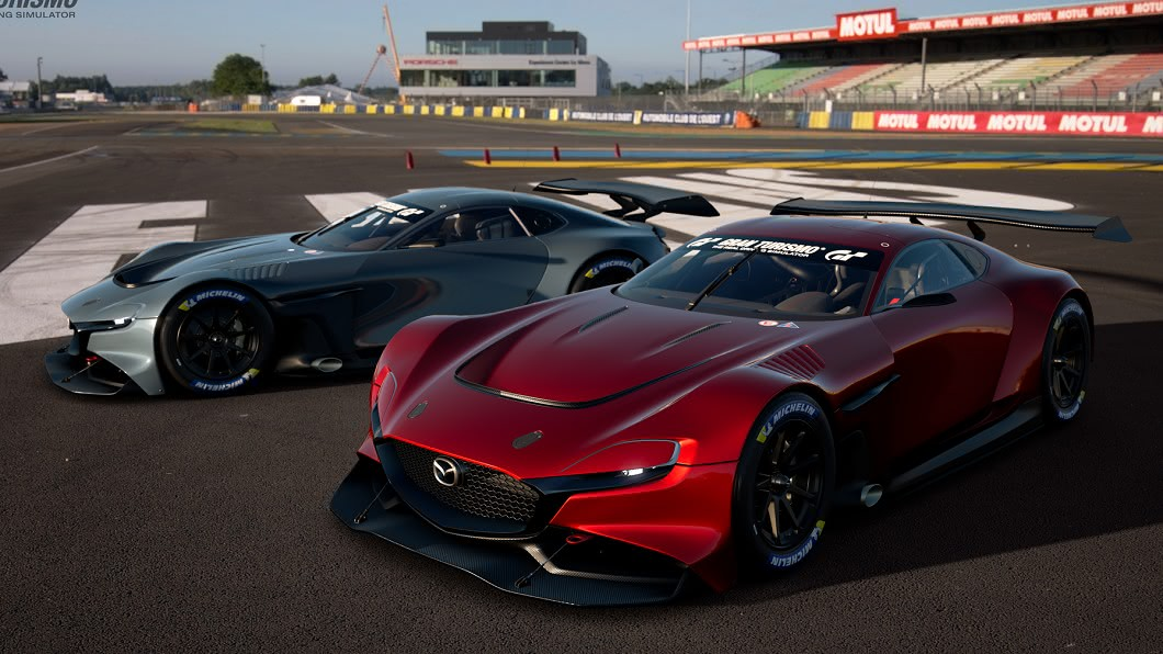 Mazda RX-Vision GT3已於5/22正式在Gran Turismo Sport 遊戲中開放下載。(圖片來源/ Mazda) 轉子引擎復活? 馬自達RX-Vision GT3參戰