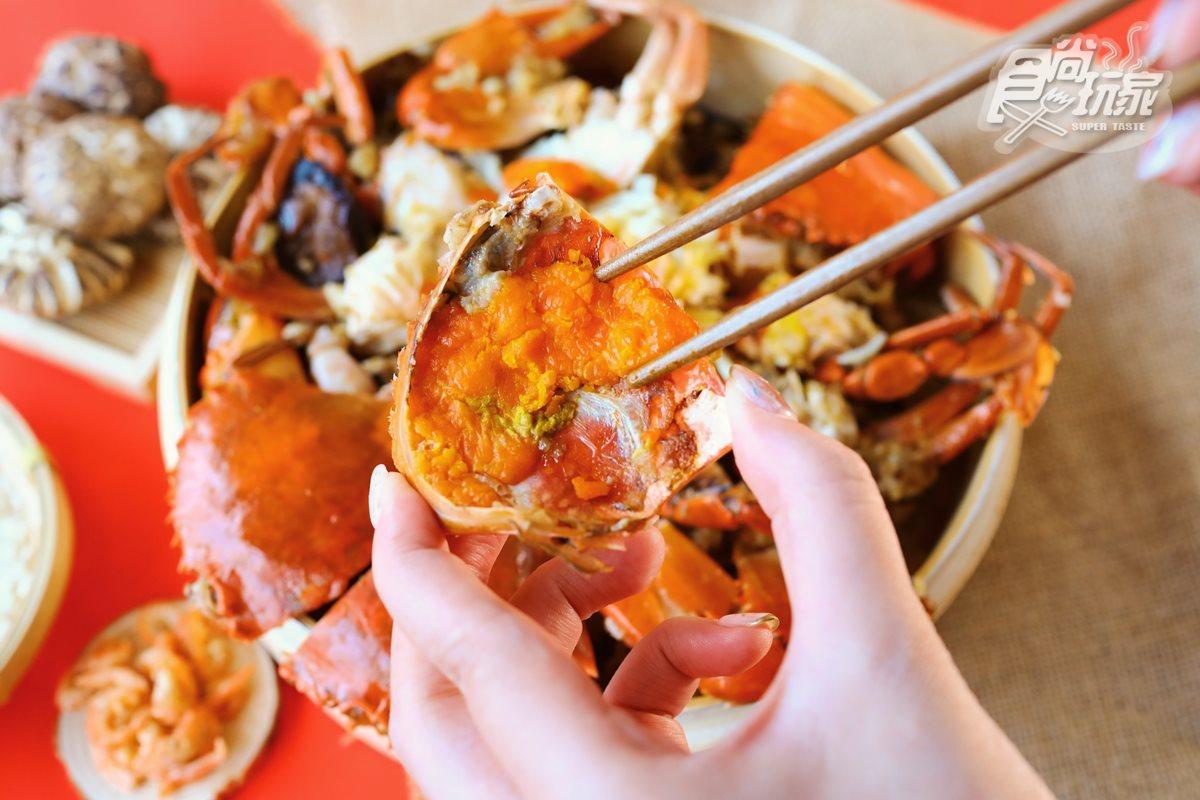 陳時中也愛吃!台南錦霞樓經典「紅蟳米糕」,國宴料理在家開桌