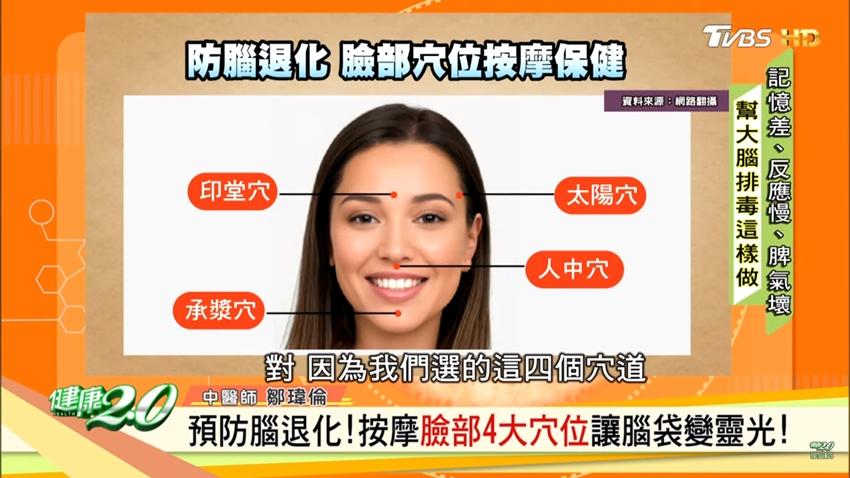 防腦退化 中醫師教你這樣梳頭、按摩臉上4穴 大腦變靈光