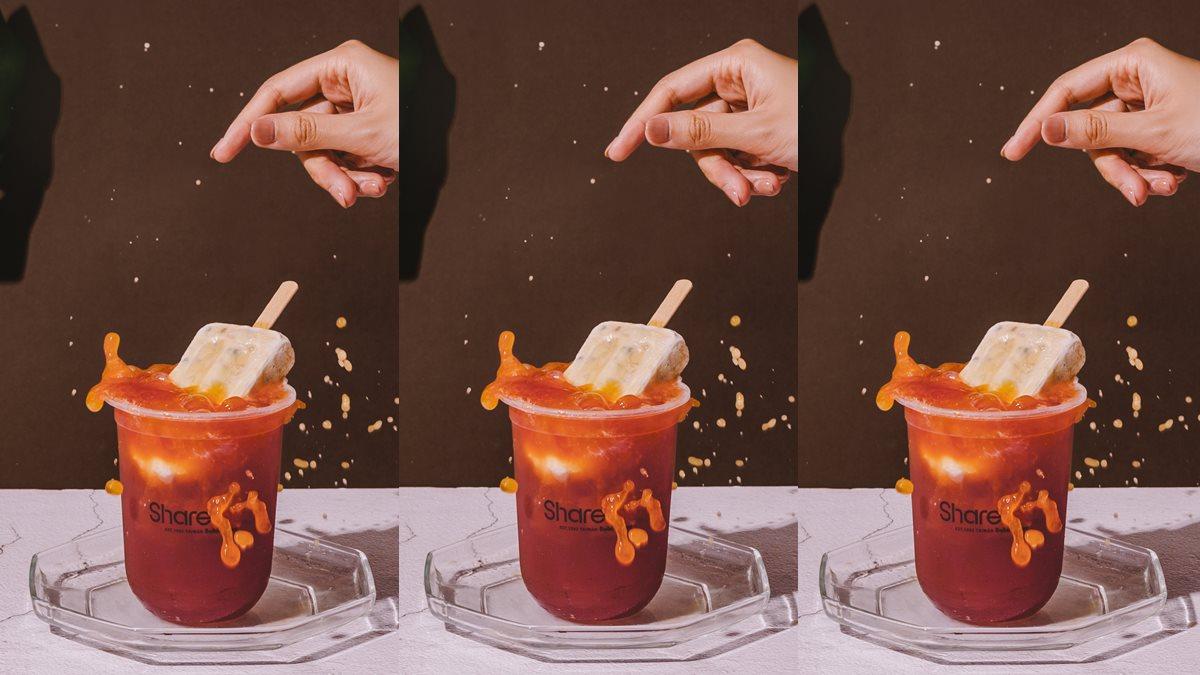 消暑聖品!義美X Sharetea推「紅豆粉粿珍珠冰棒」,同步推3款飲品