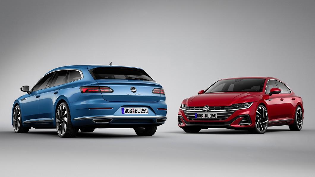 Volkswagen正式發表Arteon小改款更新。(圖片來源/ Volkswagen) 美型轎跑Arteon小改曝光 R高性能車型與旅行車同步首演