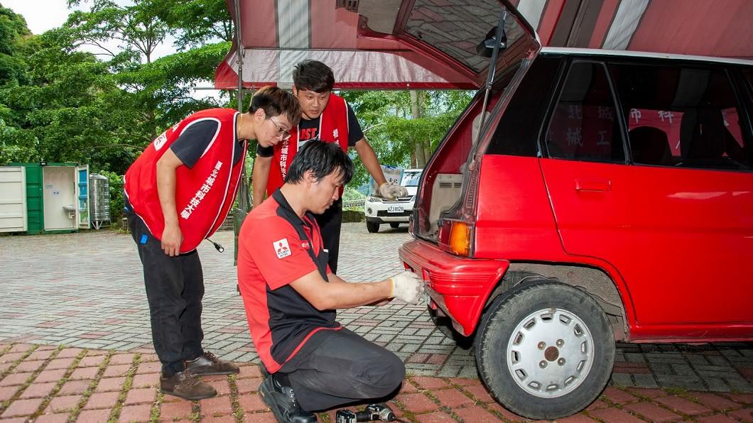 (圖片來源/ 中華汽車) 中華汽車巡迴維修   帶領汽修科同學走進部落