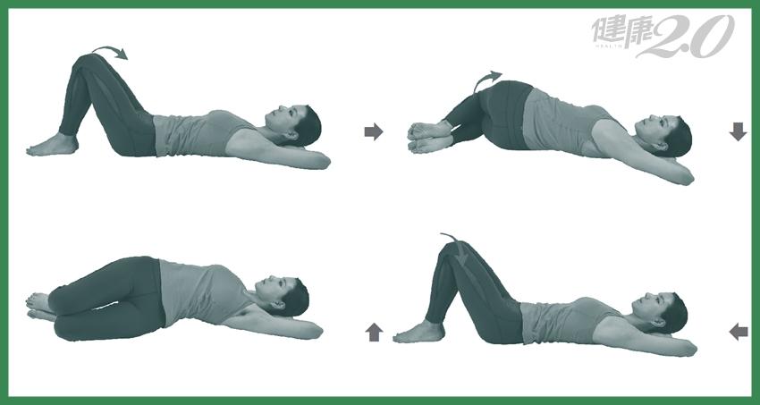 脊椎異常,病痛都來!1招躺著「扭動」脊椎變柔軟、側彎回正