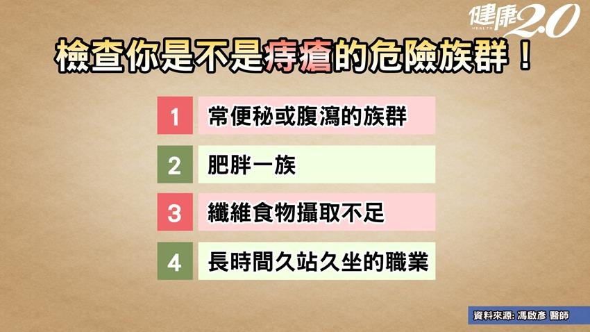 國人罹患痔瘡機率近9成!只有「第1級」能自癒,檢查你是第幾級?