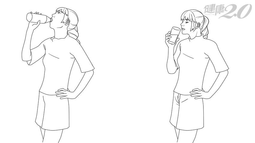 太重要!喝水「姿勢」不對,小心脊椎變形還會傷胃
