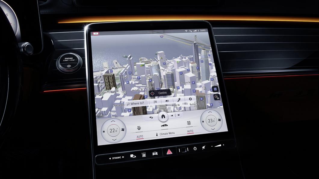 M-Benz新世代S-Class將於9月完整現身。(圖片來源/ M-Benz) 全新S-Class內裝設計曝光 最高配備5組液晶螢幕