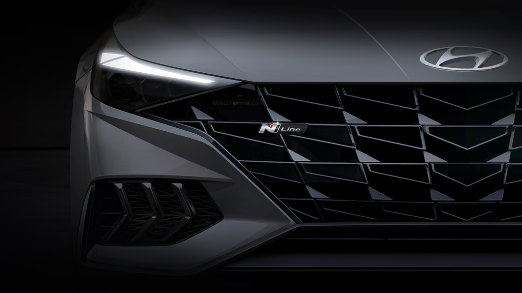 Hyundai在今年3月發表了全新Elantra,當時便預告將來會推出性能表現更優異的N Line版本車型。(圖片來源/ Hyundai) Sport車型後繼有人 Elantra N Line外觀亮相