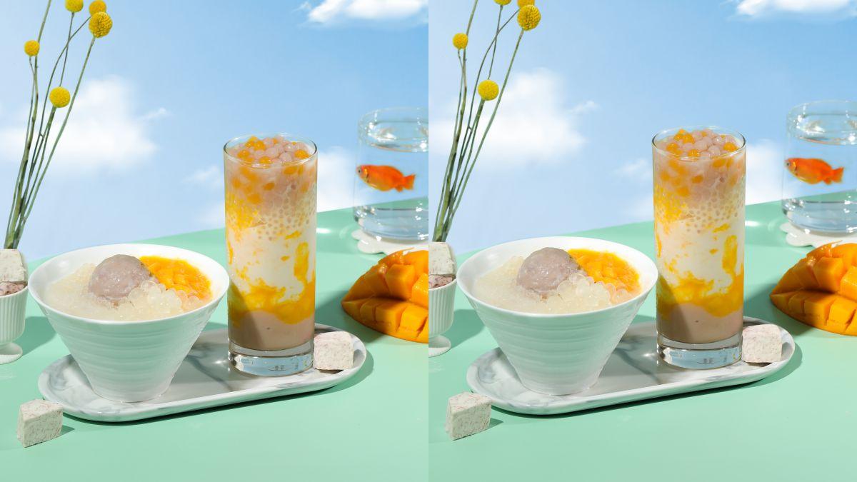 芒果尬芋泥!清原芋圓推「楊枝芋露系列」,一次推出手搖飲與冰品一起消暑