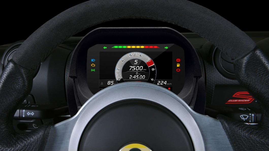 Lotus推出Elise與Exige專用數位競技儀錶板套件。(圖片來源/ Lotus) Lotus推數位競技儀錶套件 隨插即用升級賽車儀錶