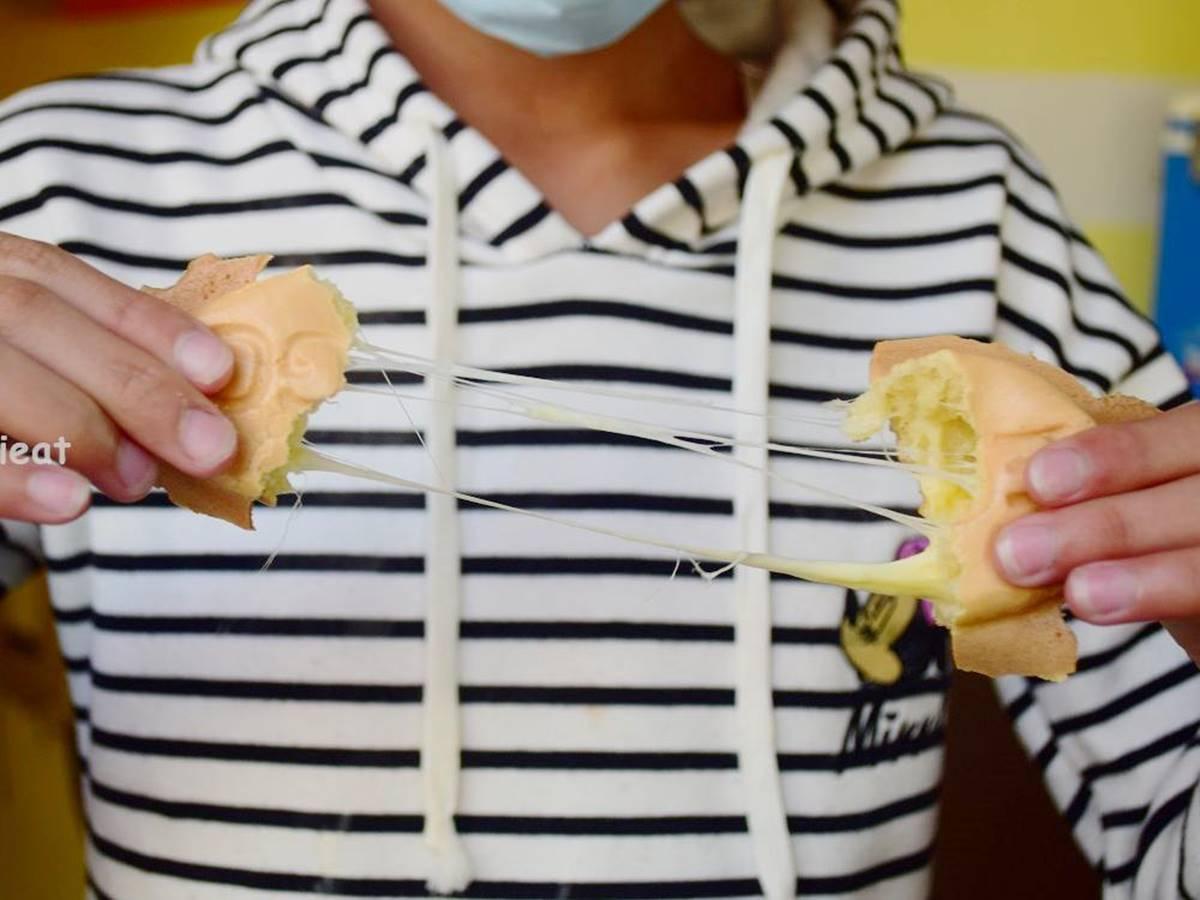 超有哏手拿美食!鹿港天后宮周邊這3家:彩色米果麵茶冰、20種口味雞蛋糕