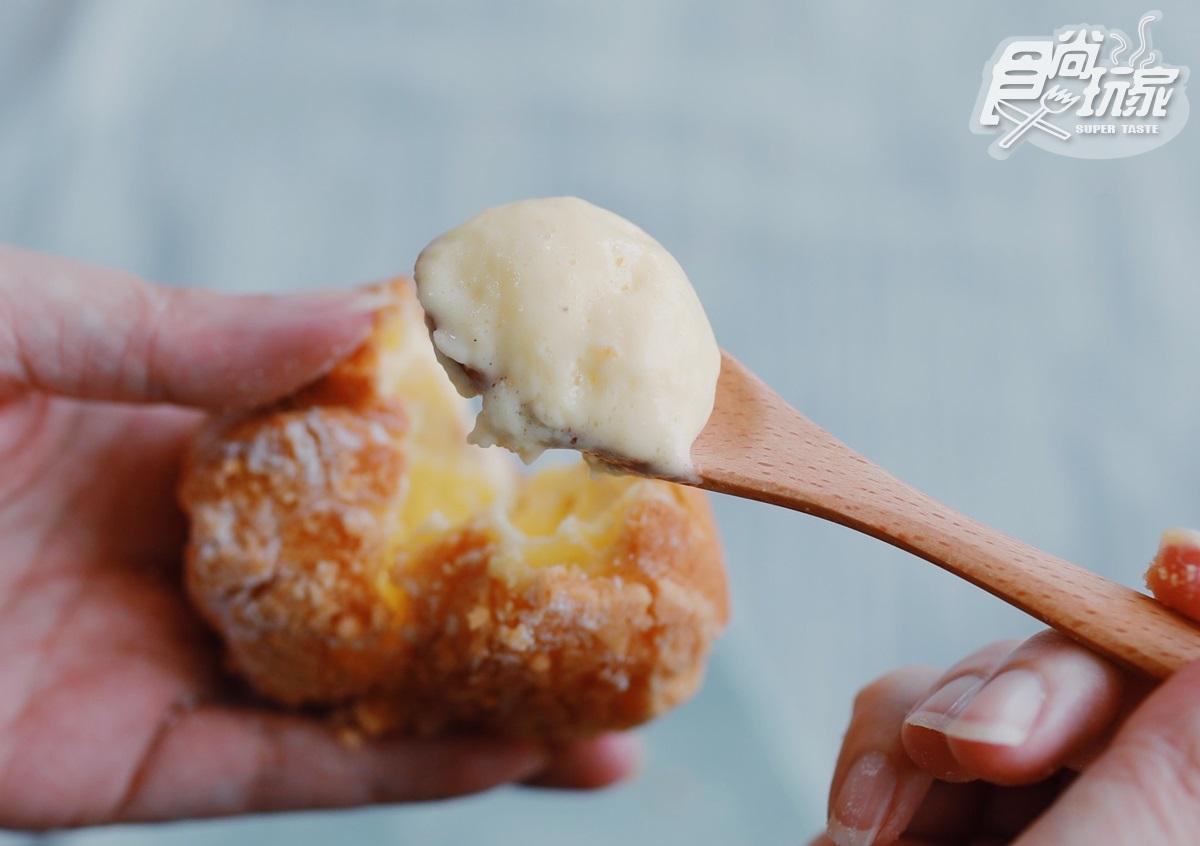 卡士達大爆漿vs.綿密冰淇淋!炎夏首選「冰心泡芙」雙吃法,每日限量300顆、CP值超高