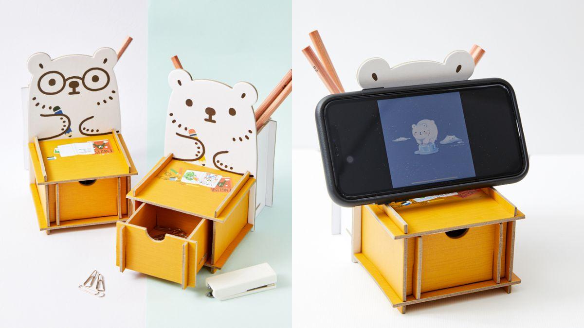 療癒「白白日記」陪上班!軟萌白白推「辦公桌小物」:置物盒、桌墊、留言板