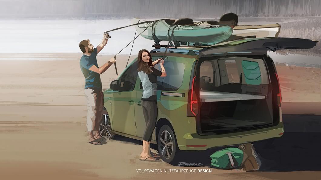 福斯商旅預告9月份將推出新一代Caddy露營車。(圖片來源/VWCV) Caddy露營車預計9月發表 最小加州號即將登場
